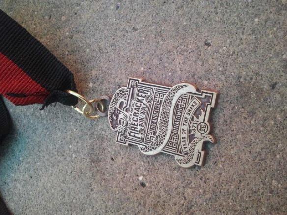 firecracker 10k medal