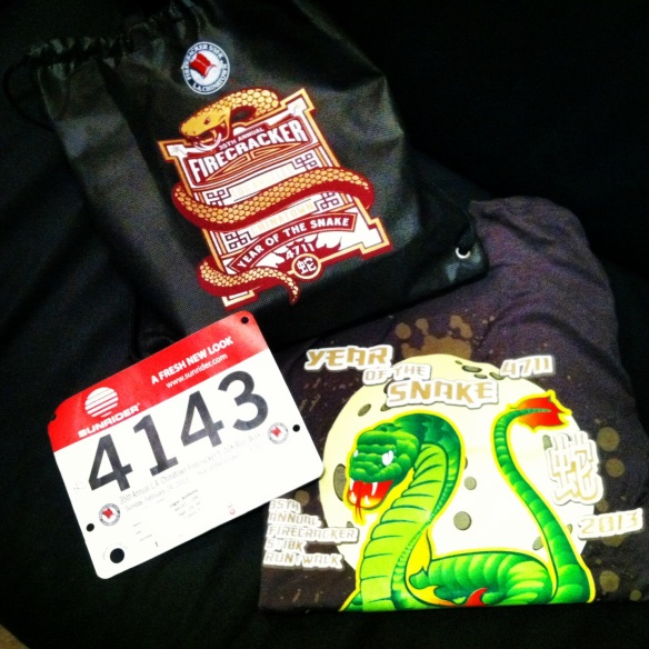 Firecracker 10k bag